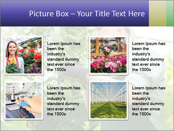 Man Working In Green House PowerPoint Template - Slide 14