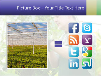 Man Working In Green House PowerPoint Template - Slide 21