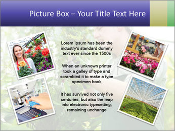 Man Working In Green House PowerPoint Template - Slide 24