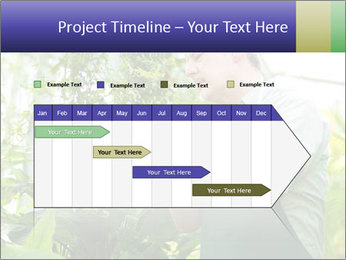 Man Working In Green House PowerPoint Template - Slide 25