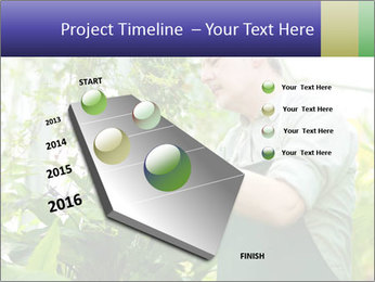 Man Working In Green House PowerPoint Template - Slide 26