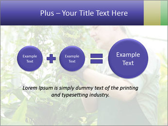 Man Working In Green House PowerPoint Template - Slide 75