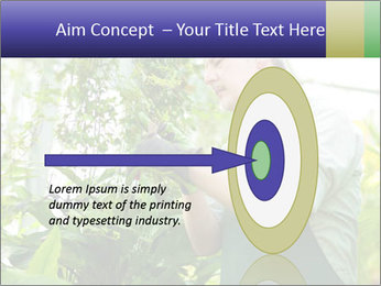 Man Working In Green House PowerPoint Template - Slide 83