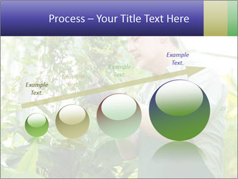 Man Working In Green House PowerPoint Template - Slide 87