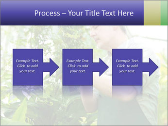Man Working In Green House PowerPoint Template - Slide 88