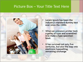 People in bowling PowerPoint Template - Slide 13