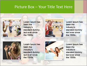 People in bowling PowerPoint Template - Slide 14