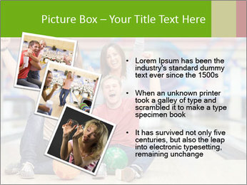 People in bowling PowerPoint Template - Slide 17