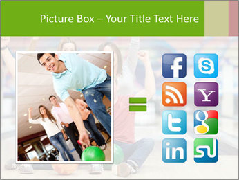 People in bowling PowerPoint Template - Slide 21