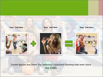 People in bowling PowerPoint Template - Slide 22