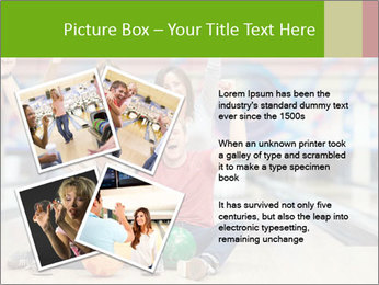 People in bowling PowerPoint Template - Slide 23