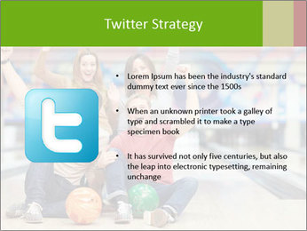 People in bowling PowerPoint Template - Slide 9