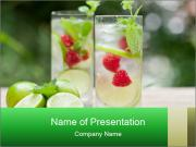 Fresh cold drink PowerPoint Template