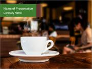 Cup of coffee PowerPoint Template