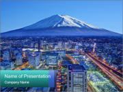 Skyline of  Japan. PowerPoint Template