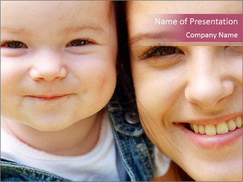 Mother And Baby PowerPoint Template - Slide 1