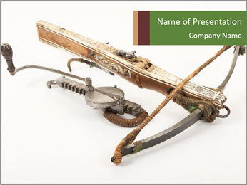 Medieval crossbow PowerPoint Template - Slide 1