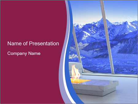 House in the mountain PowerPoint Template
