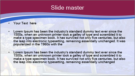 House in the mountain PowerPoint Template - Slide 2