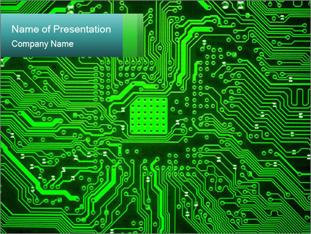 Computer board PowerPoint Template