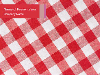 Tablecloth PowerPoint Template - Slide 1