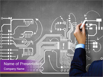 Human hand drawing PowerPoint Template - Slide 1