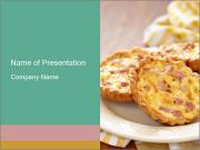 Pies with cheese PowerPoint Template