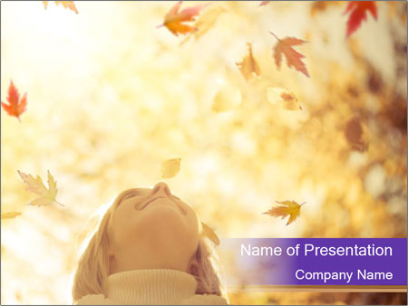 Happy child PowerPoint Template