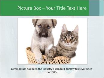 Beautiful white cat PowerPoint Template - Slide 15