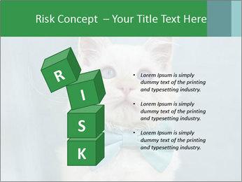 Beautiful white cat PowerPoint Template - Slide 81