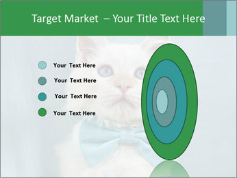 Beautiful white cat PowerPoint Template - Slide 84