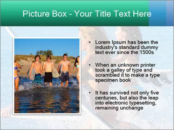 Boys and girls teen surfers running PowerPoint Template - Slide 13