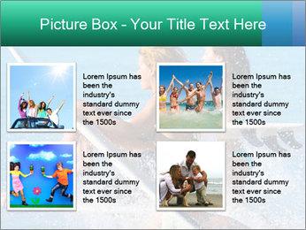 Boys and girls teen surfers running PowerPoint Template - Slide 14