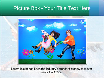 Boys and girls teen surfers running PowerPoint Template - Slide 15