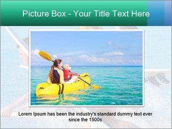 Boys and girls teen surfers running PowerPoint Template - Slide 16