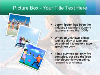Boys and girls teen surfers running PowerPoint Template - Slide 17