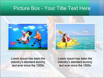 Boys and girls teen surfers running PowerPoint Template - Slide 18