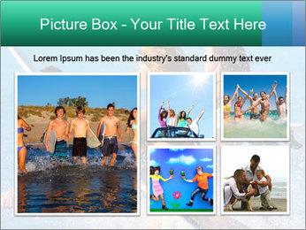 Boys and girls teen surfers running PowerPoint Template - Slide 19
