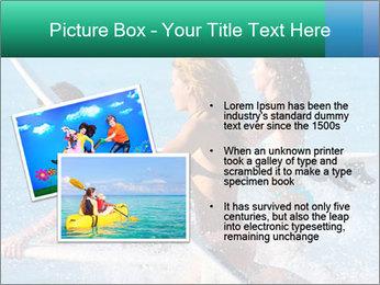 Boys and girls teen surfers running PowerPoint Template - Slide 20