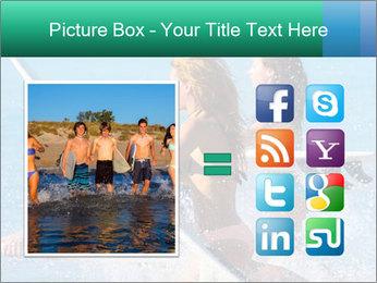 Boys and girls teen surfers running PowerPoint Template - Slide 21