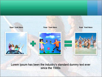 Boys and girls teen surfers running PowerPoint Template - Slide 22