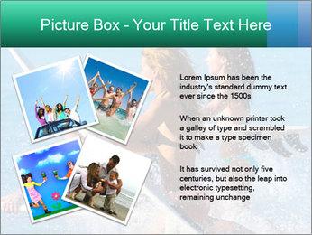 Boys and girls teen surfers running PowerPoint Template - Slide 23