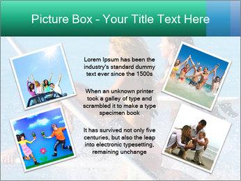 Boys and girls teen surfers running PowerPoint Template - Slide 24