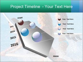 Boys and girls teen surfers running PowerPoint Template - Slide 26