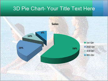 Boys and girls teen surfers running PowerPoint Template - Slide 35