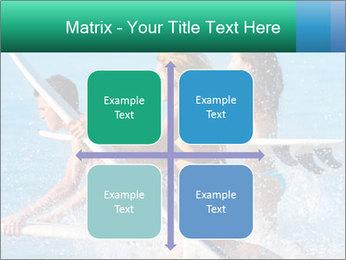 Boys and girls teen surfers running PowerPoint Template - Slide 37