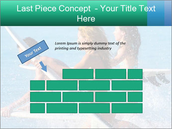 Boys and girls teen surfers running PowerPoint Template - Slide 46