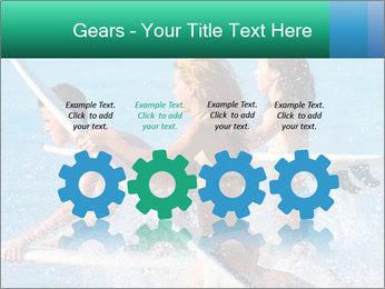 Boys and girls teen surfers running PowerPoint Template - Slide 48