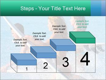Boys and girls teen surfers running PowerPoint Template - Slide 64
