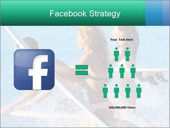 Boys and girls teen surfers running PowerPoint Template - Slide 7